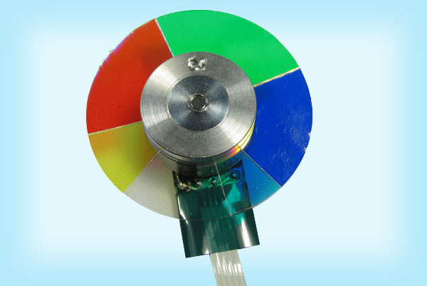 Broken projector colour wheel repair